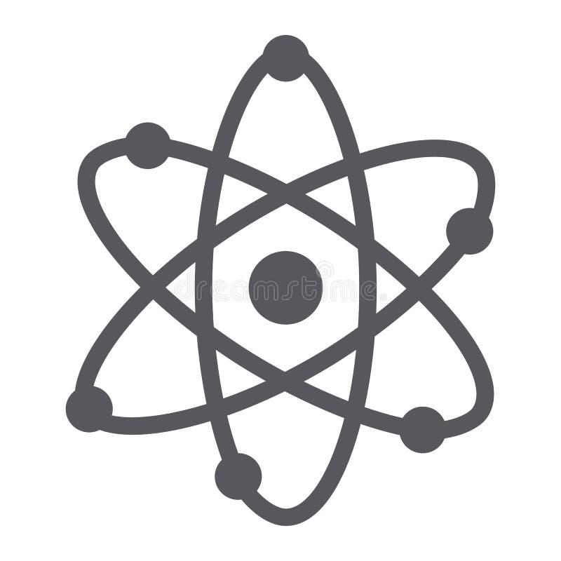 Εικονίδιο δομών ατόμων glyph, επιστημονικός και πυρηνικός, σημάδι πυρήνων, διανυσματική γραφική παράσταση, ένα στερεό σχέδιο σε έ απεικόνιση αποθεμάτων
