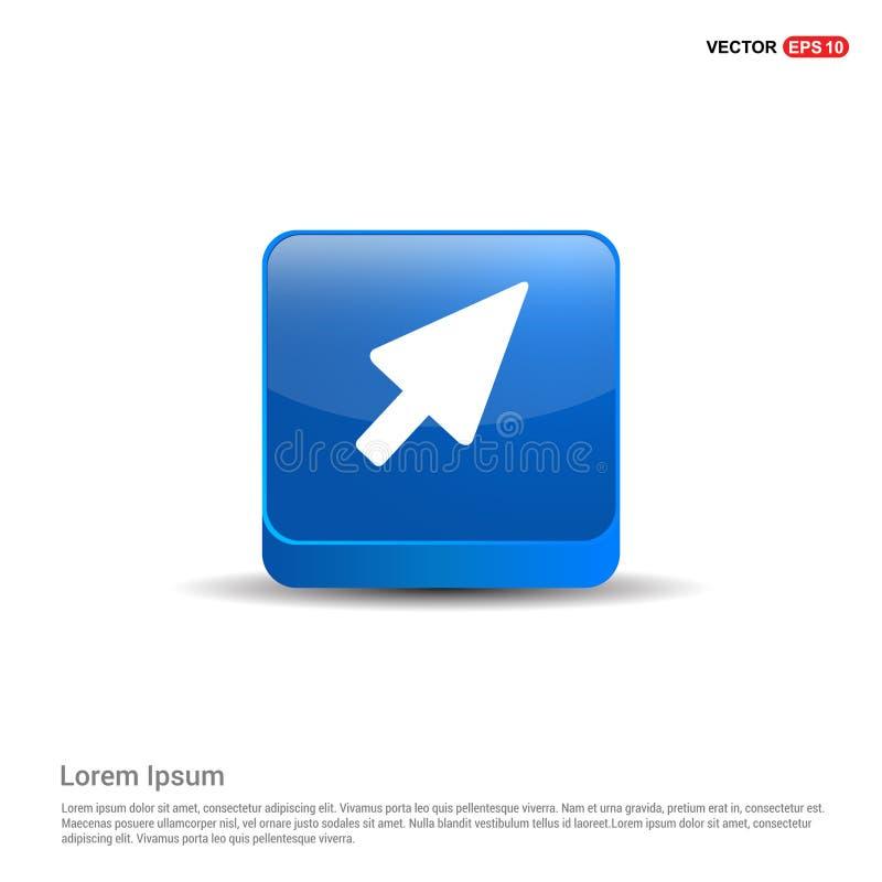 εικονίδιο δρομέων - τρισδιάστατο μπλε κουμπί ελεύθερη απεικόνιση δικαιώματος