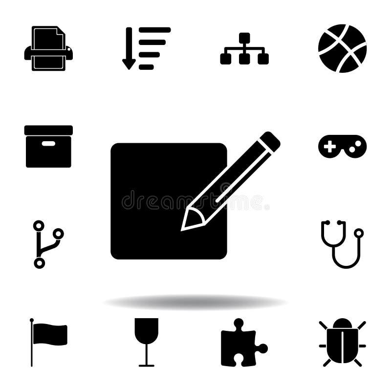 εικονίδιο εγγράφου εκτύπωσης E ελεύθερη απεικόνιση δικαιώματος