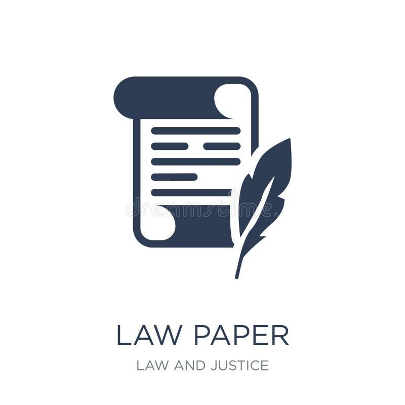 εικονίδιο εγγράφου νόμου Καθιερώνον τη μόδα επίπεδο διανυσματικό εικονίδιο εγγράφου νόμου στο άσπρο backg διανυσματική απεικόνιση