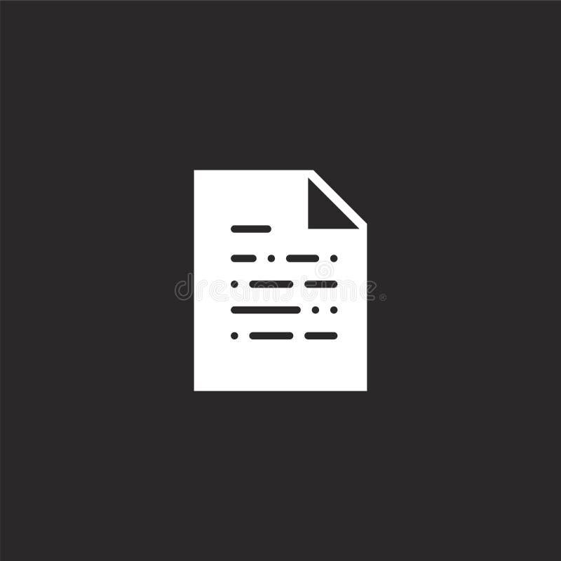 εικονίδιο εγγράφων Γεμισμένο εικονίδιο εγγράφων για το σχέδιο ιστοχώρου και κινητός, app ανάπτυξη εικονίδιο εγγράφων από γεμισμέν ελεύθερη απεικόνιση δικαιώματος