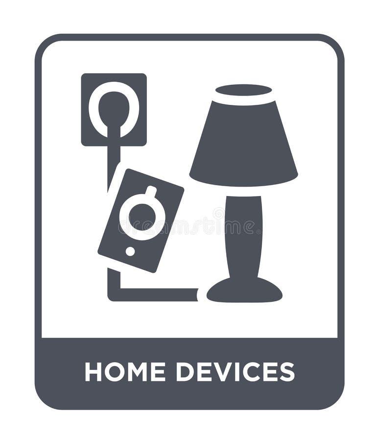 εικονίδιο εγχώριων συσκευών στο καθιερώνον τη μόδα ύφος σχεδίου εικονίδιο εγχώριων συσκευών που απομονώνεται στο άσπρο υπόβαθρο δ ελεύθερη απεικόνιση δικαιώματος