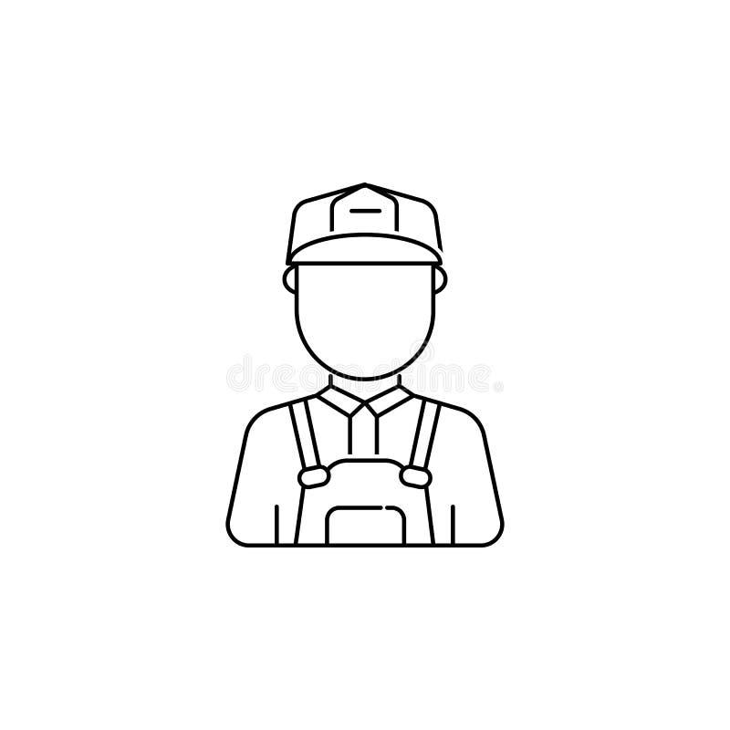 Εικονίδιο ειδώλων ατόμων εργατών οικοδομών ελεύθερη απεικόνιση δικαιώματος
