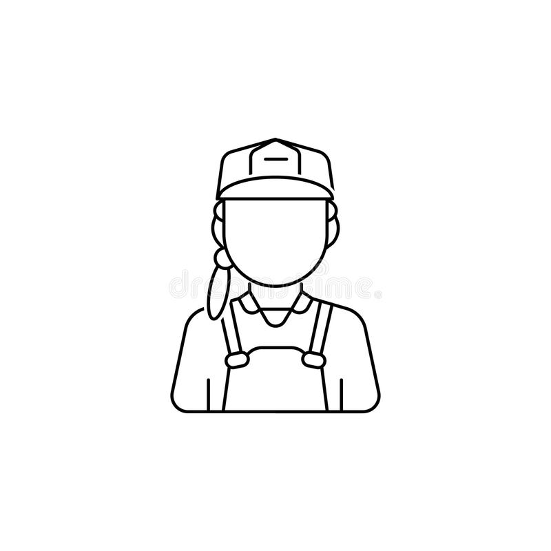 Εικονίδιο ειδώλων γυναικών εργατών οικοδομών ελεύθερη απεικόνιση δικαιώματος