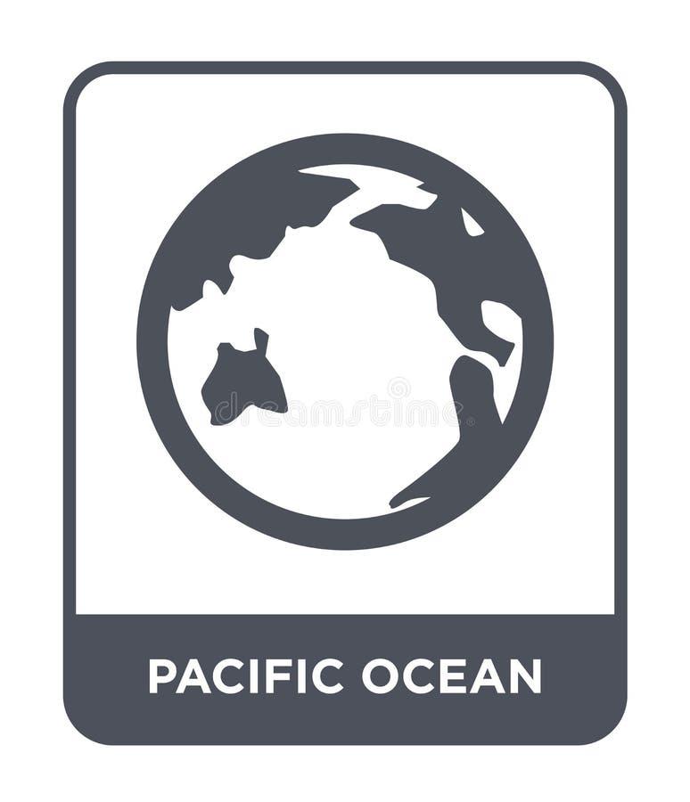 εικονίδιο Ειρηνικών Ωκεανών στο καθιερώνον τη μόδα ύφος σχεδίου εικονίδιο Ειρηνικών Ωκεανών που απομονώνεται στο άσπρο υπόβαθρο δ διανυσματική απεικόνιση