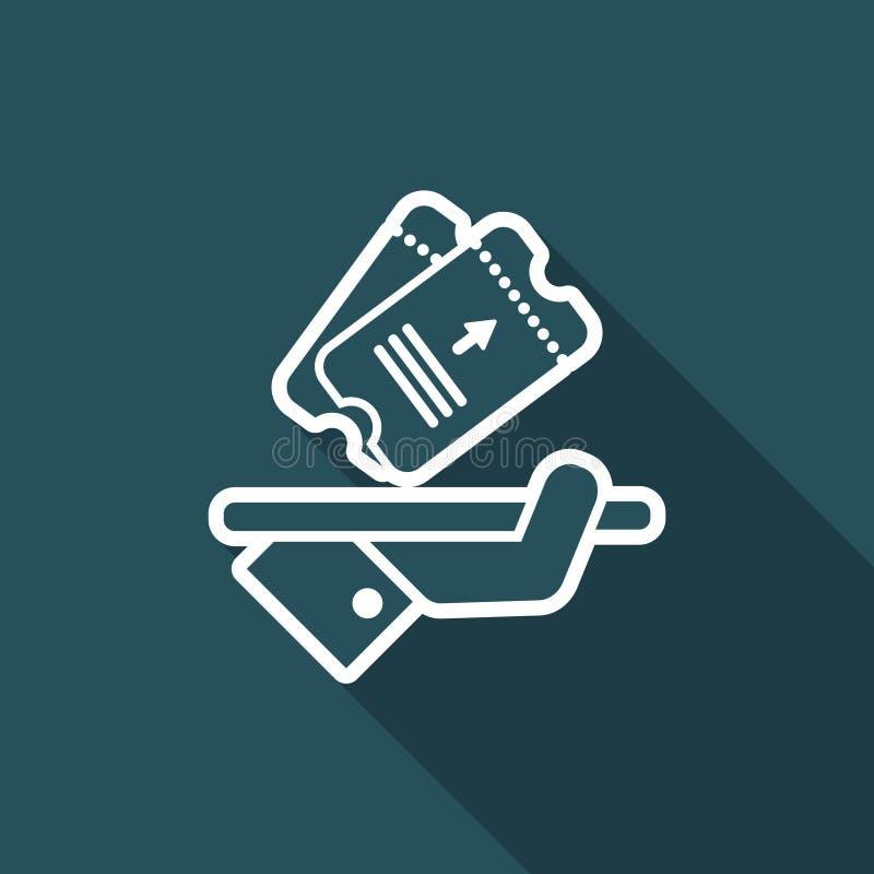 Εικονίδιο εισιτηρίων ελεύθερη απεικόνιση δικαιώματος