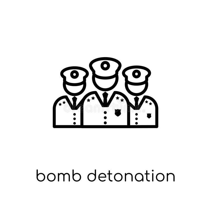 Εικονίδιο εκπυρσοκρότησης βομβών από τη συλλογή στρατού διανυσματική απεικόνιση