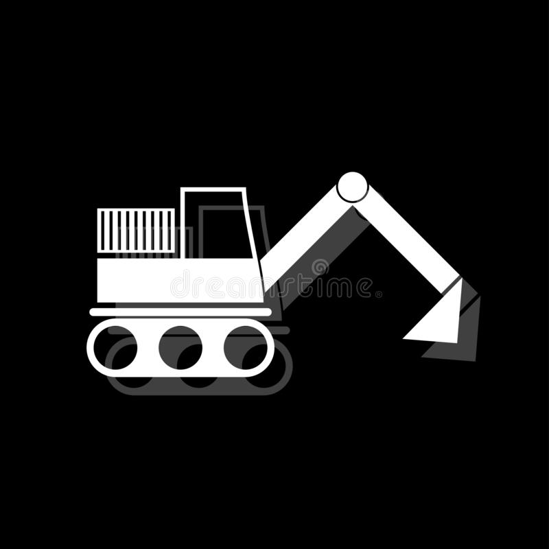 Εικονίδιο εκσκαφέων επίπεδο απεικόνιση αποθεμάτων