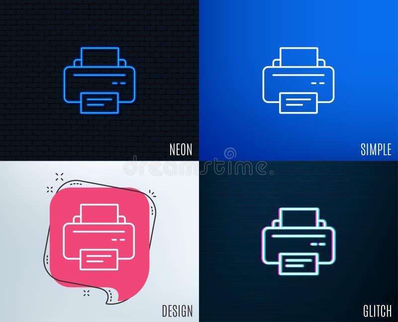 Εικονίδιο εκτυπωτών Σημάδι συσκευών εντύπων διανυσματική απεικόνιση