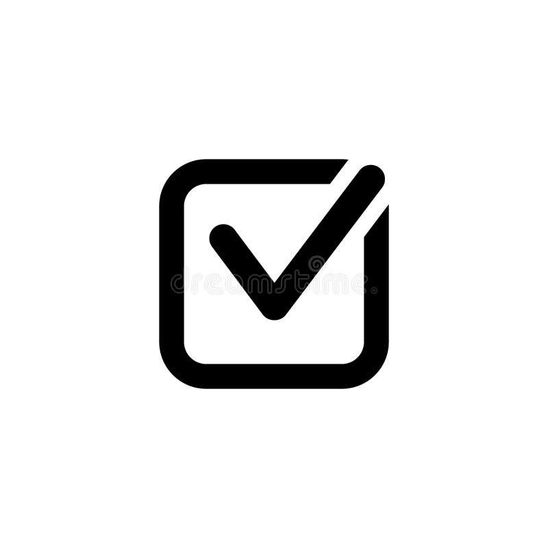 Εικονίδιο ελέγχου στο λευκό διανυσματική απεικόνιση