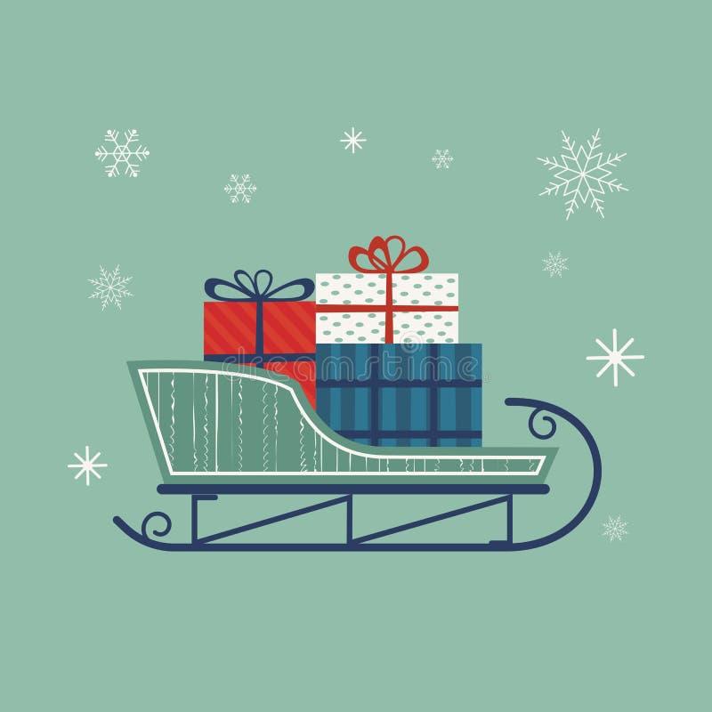 Εικονίδιο ελκήθρων Santa ` s ελεύθερη απεικόνιση δικαιώματος