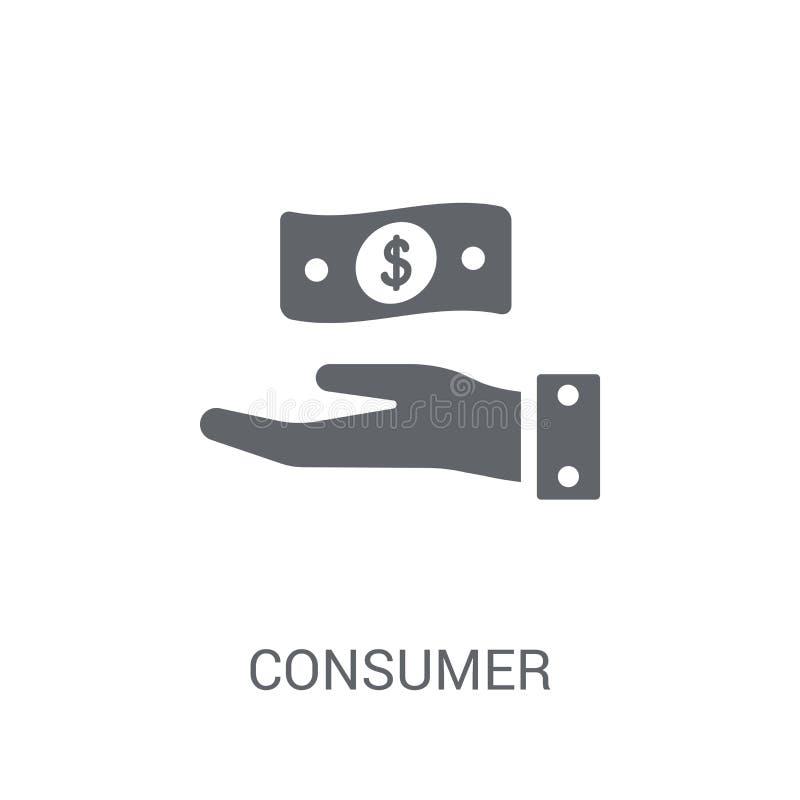 Εικονίδιο εμπιστοσύνης καταναλωτή  διανυσματική απεικόνιση