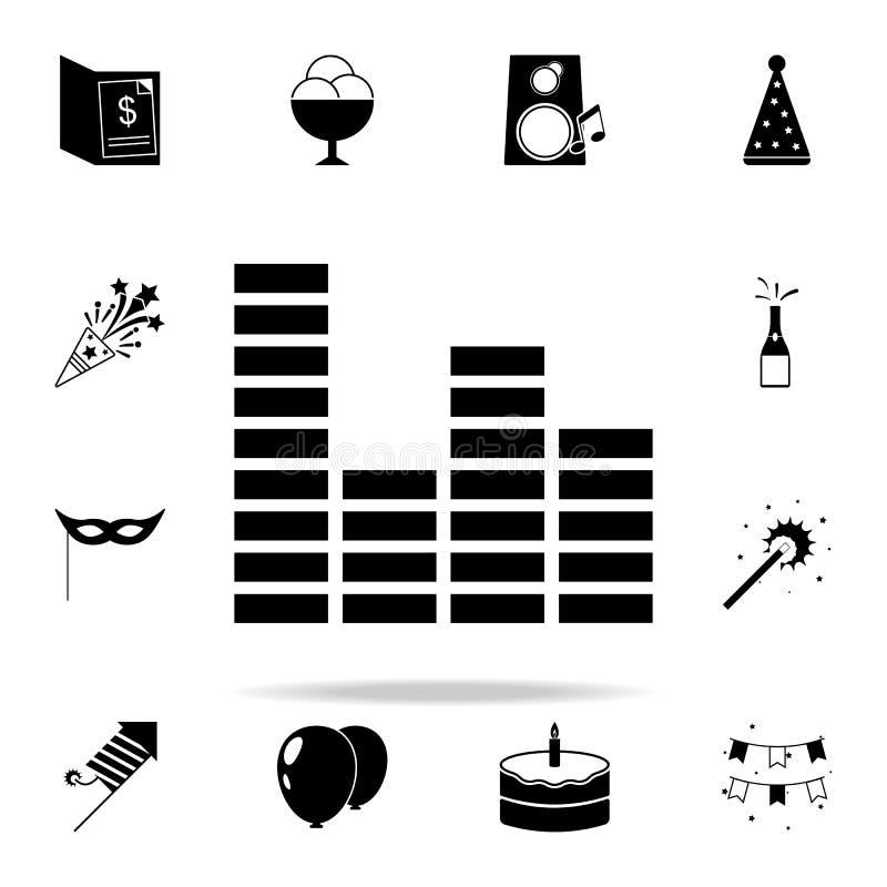 Εικονίδιο εξισωτών Καθολικό εικονιδίων κόμματος που τίθεται για τον Ιστό και κινητό διανυσματική απεικόνιση