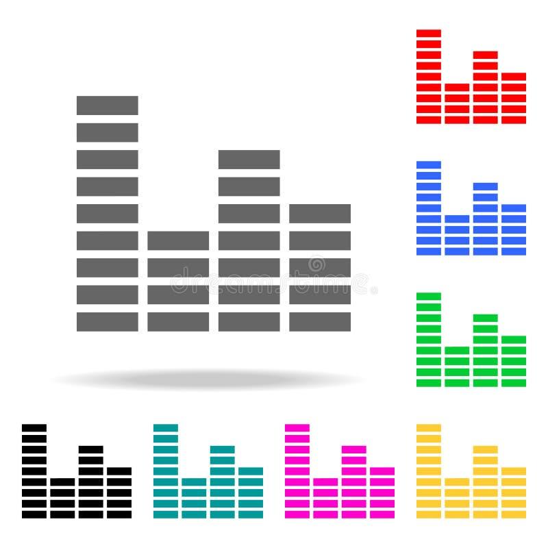Εικονίδιο εξισωτών Στοιχεία των πολυ χρωματισμένων εικονιδίων κομμάτων Γραφικό εικονίδιο σχεδίου εξαιρετικής ποιότητας Απλό εικον ελεύθερη απεικόνιση δικαιώματος