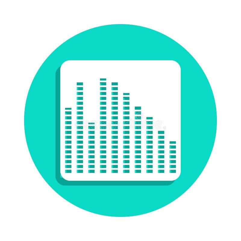 εικονίδιο εξισωτών στο ύφος διακριτικών Ένα από το εικονίδιο συλλογής οργάνων μουσικής μπορεί να χρησιμοποιηθεί για UI, UX ελεύθερη απεικόνιση δικαιώματος
