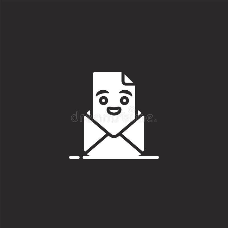 εικονίδιο επιστολών Γεμισμένο εικονίδιο επιστολών για το σχέδιο ιστοχώρου και κινητός, app ανάπτυξη εικονίδιο επιστολών από τη γε διανυσματική απεικόνιση