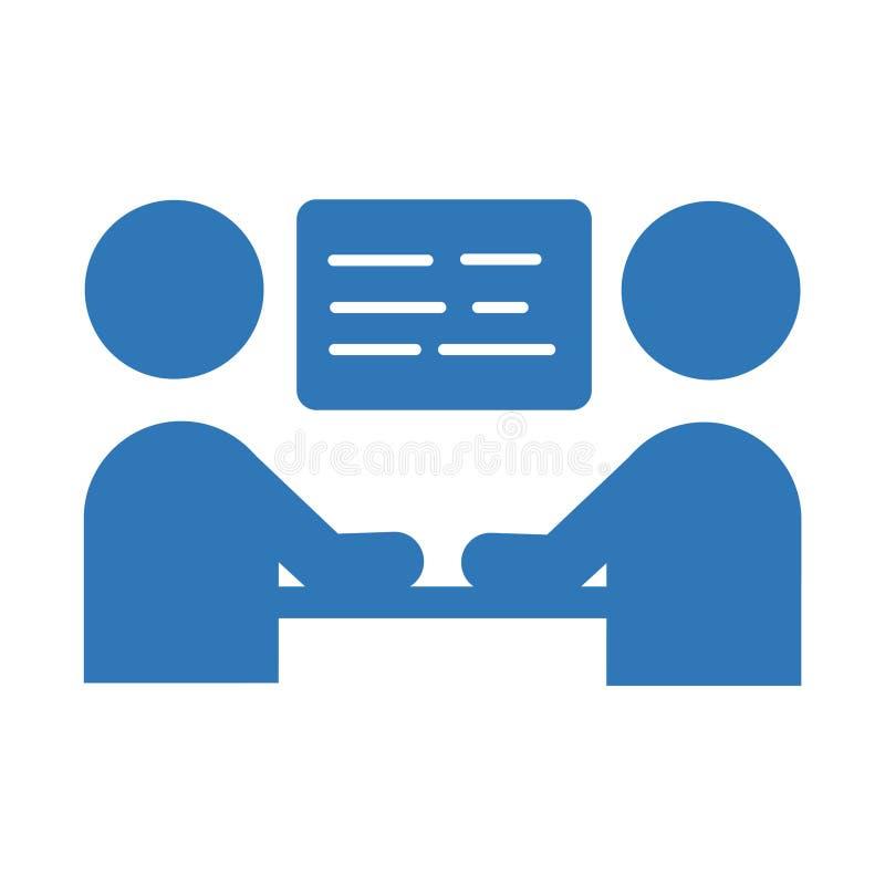 Εικονίδιο επιχειρησιακής συνεδρίασης Διανυσματικό σύμβολο σημαδιών διανυσματική απεικόνιση