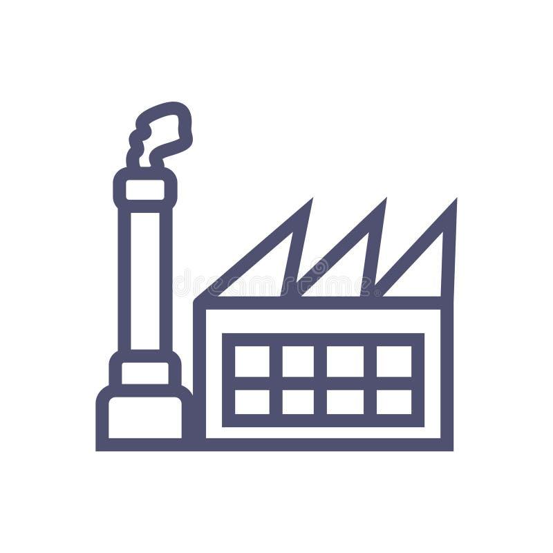 Εικονίδιο εργοστασίων απλό καθαρό σύμβολο σημαδιών εργοστασίων - διάνυσμα διανυσματική απεικόνιση
