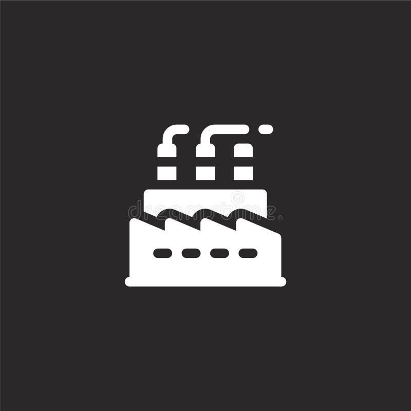 εικονίδιο εργοστασίων Γεμισμένο εικονίδιο εργοστασίων για το σχέδιο ιστοχώρου και κινητός, app ανάπτυξη εικονίδιο εργοστασίων από απεικόνιση αποθεμάτων