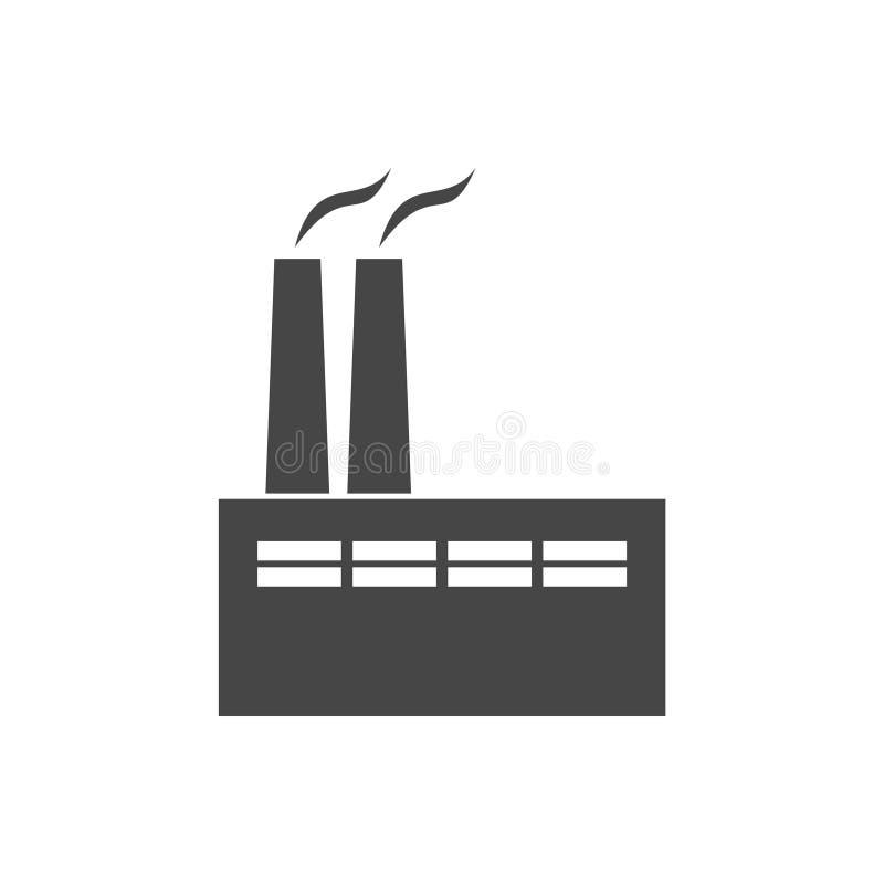 Εικονίδιο εργοστασίων απεικόνιση αποθεμάτων