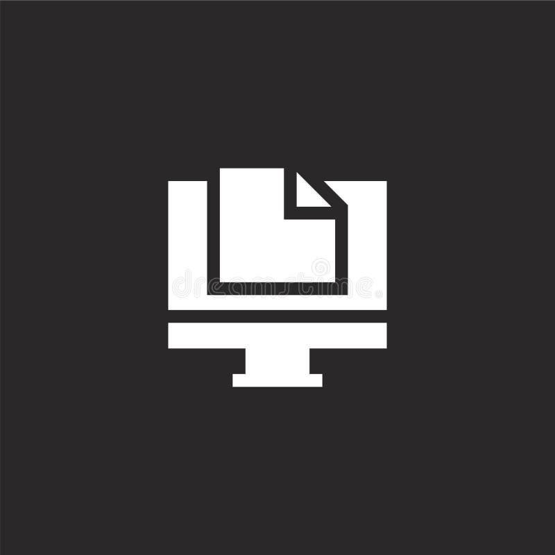 εικονίδιο ερευνών Γεμισμένο εικονίδιο ερευνών για το σχέδιο ιστοχώρου και κινητός, app ανάπτυξη το εικονίδιο ερευνών από γεμισμέν απεικόνιση αποθεμάτων