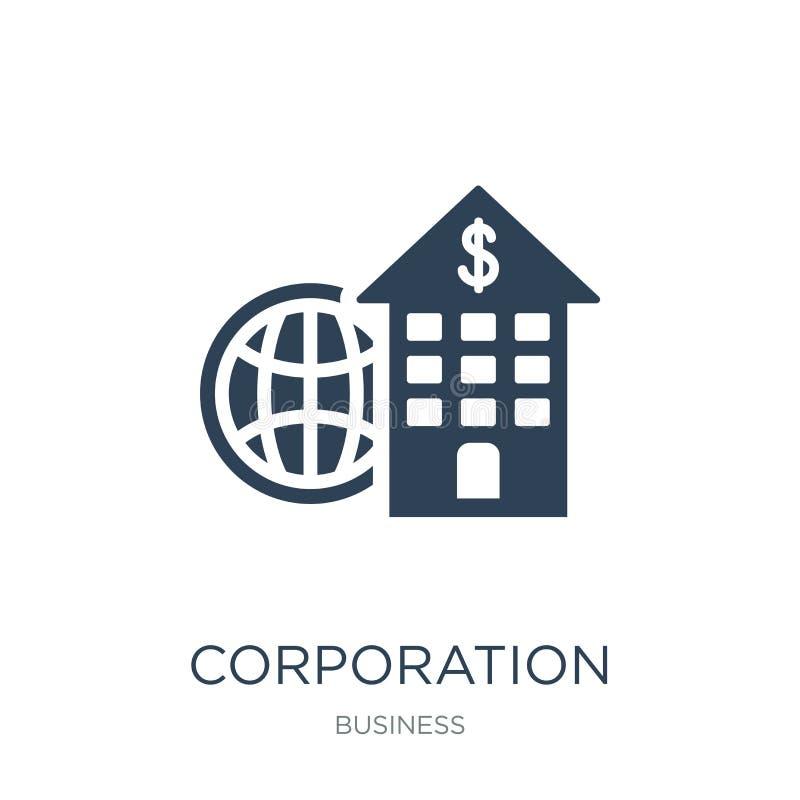 εικονίδιο εταιριών στο καθιερώνον τη μόδα ύφος σχεδίου εικονίδιο εταιριών που απομονώνεται στο άσπρο υπόβαθρο διανυσματικό εικονί απεικόνιση αποθεμάτων