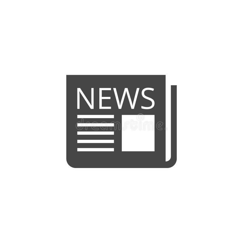 Εικονίδιο εφημερίδων, εικονίδιο ειδήσεων ελεύθερη απεικόνιση δικαιώματος
