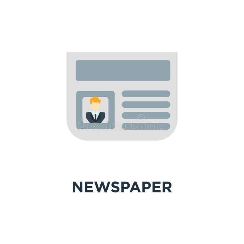 Εικονίδιο εφημερίδων καθημερινό σχέδιο συμβόλων έννοιας ενημερωτικών δελτίων, ειδήσεις, εγώ απεικόνιση αποθεμάτων