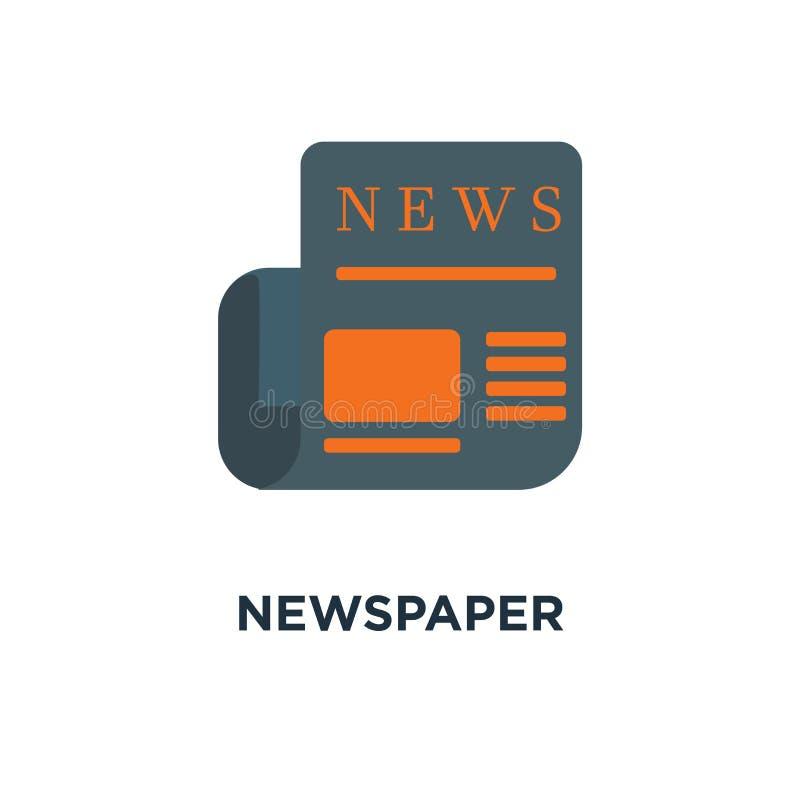 Εικονίδιο εφημερίδων καθημερινό σχέδιο συμβόλων έννοιας ενημερωτικών δελτίων, ειδήσεις, εγώ διανυσματική απεικόνιση