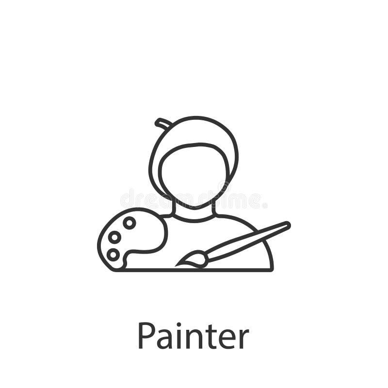 Εικονίδιο ζωγράφων Στοιχείο του εικονιδίου ειδώλων επαγγέλματος για την κινητούς έννοια και τον Ιστό apps Το λεπτομερές εικονίδιο ελεύθερη απεικόνιση δικαιώματος