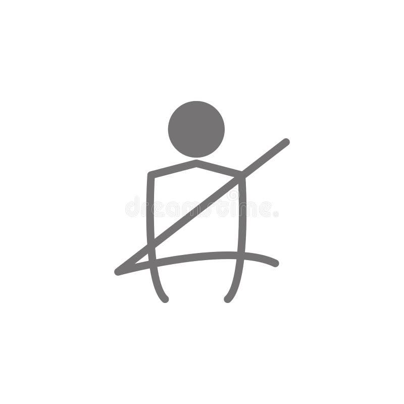 Εικονίδιο ζωνών ασφαλείας αυτοκινήτων ελεύθερη απεικόνιση δικαιώματος