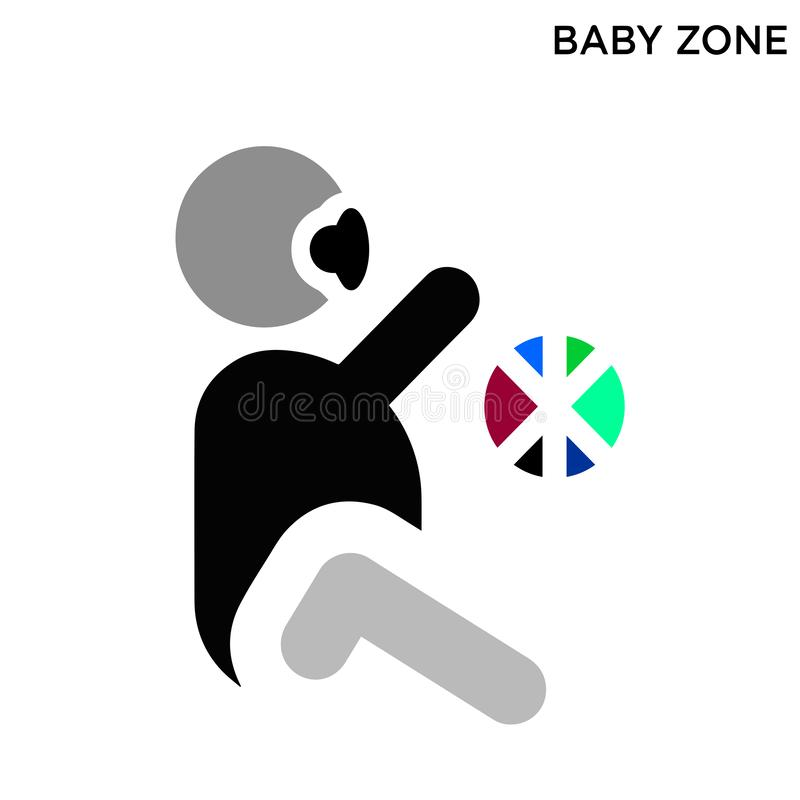 Εικονίδιο ζώνης μωρών διανυσματική απεικόνιση