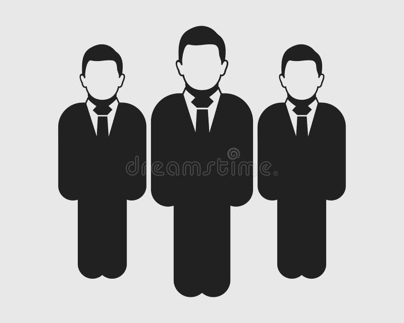 Εικονίδιο ηγεσίας Μόνιμα αρσενικά σύμβολα στο γκρίζο υπόβαθρο Επίπεδο ύφος διανυσματικό EPS ελεύθερη απεικόνιση δικαιώματος