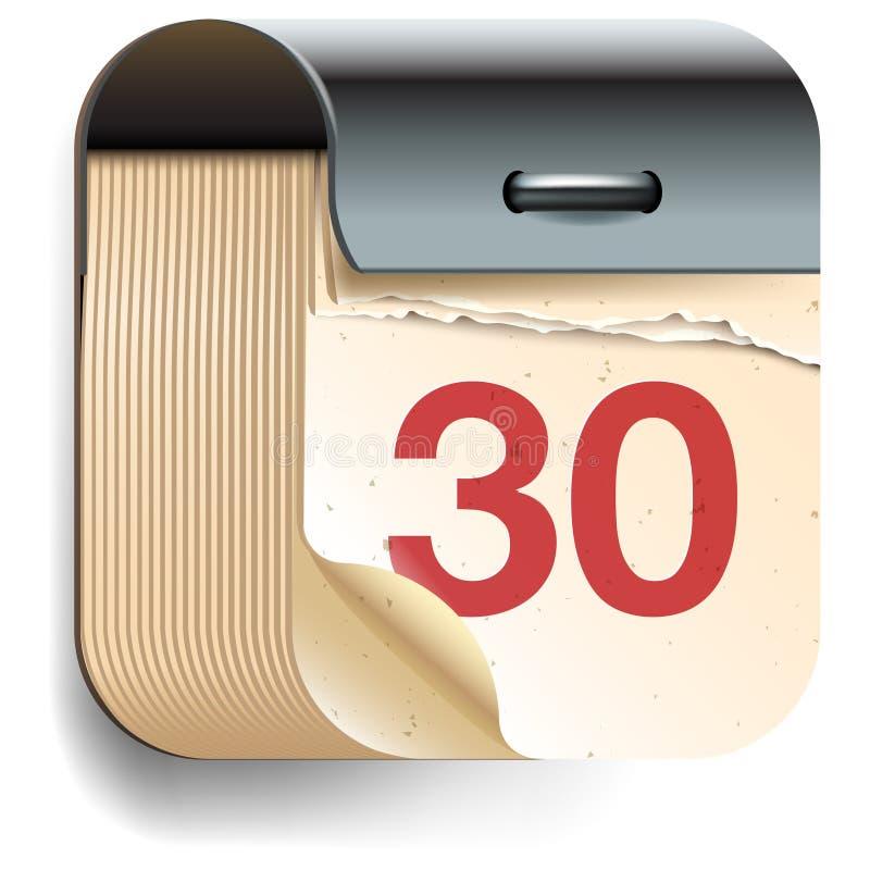 Εικονίδιο ημερολογιακής ημερομηνίας ελεύθερη απεικόνιση δικαιώματος