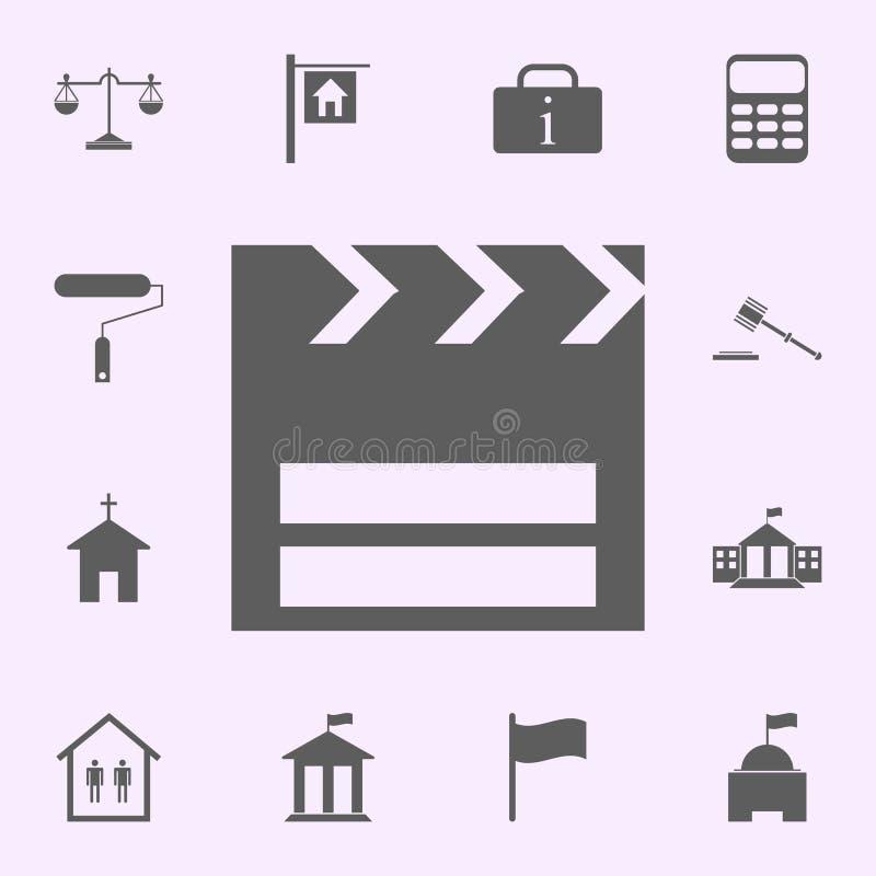 εικονίδιο θέσεων κινηματογράφων σημάδια του καθολικού εικονιδίων καρφιτσών που τίθεται για τον Ιστό και κινητού διανυσματική απεικόνιση
