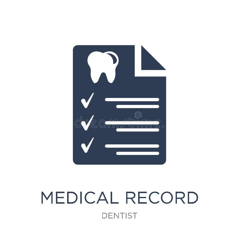 Εικονίδιο ιατρικών αναφορών Καθιερώνον τη μόδα επίπεδο διανυσματικό εικονίδιο ιατρικών αναφορών στο W απεικόνιση αποθεμάτων