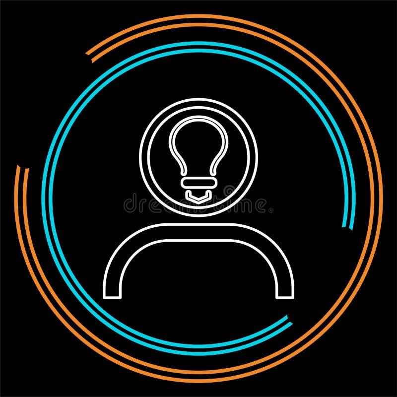 Εικονίδιο ιδέας καινοτομίας Επίπεδη καινοτομία απεικόνισης διανυσματική απεικόνιση