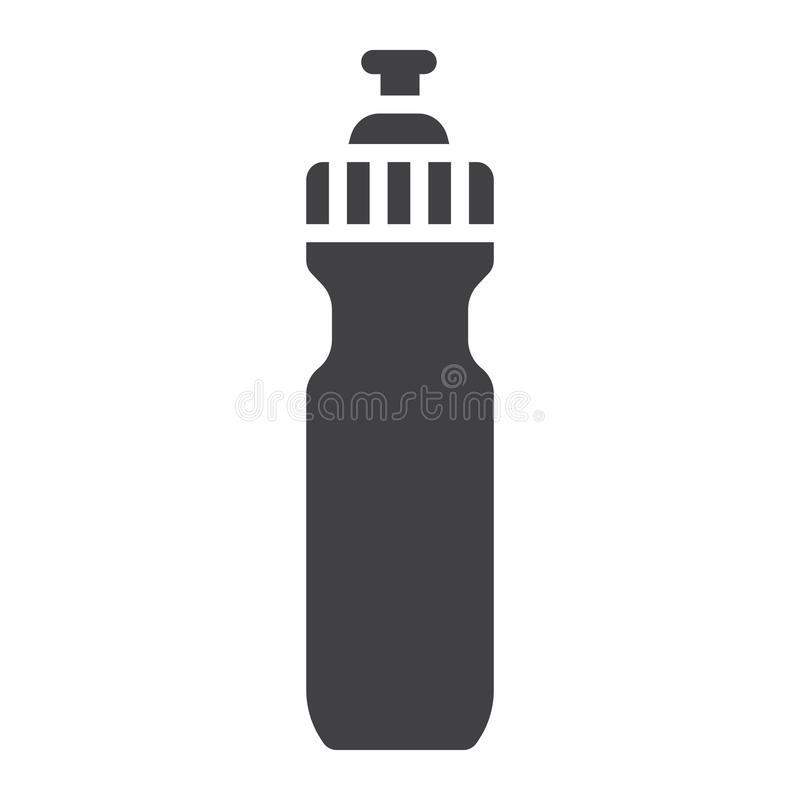 Εικονίδιο, ικανότητα και αθλητισμός αθλητικών μπουκαλιών νερό glyph ελεύθερη απεικόνιση δικαιώματος