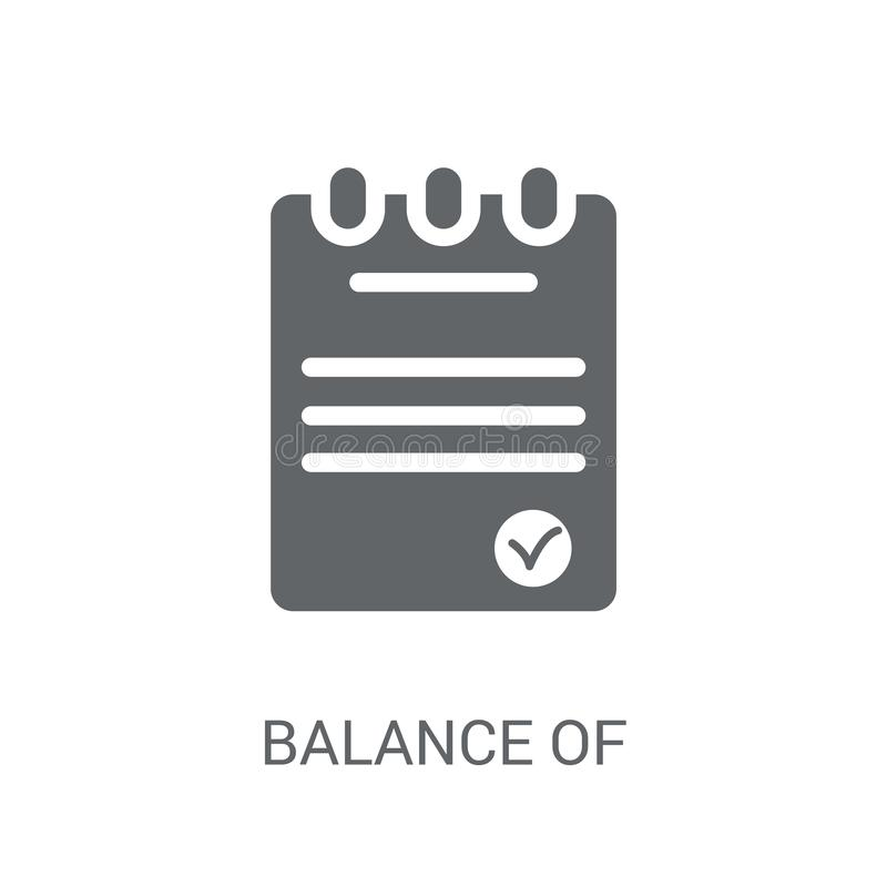 Εικονίδιο ισοζυγίου πληρωμών  απεικόνιση αποθεμάτων