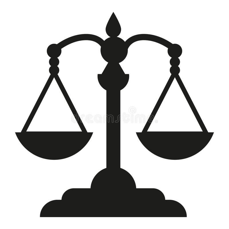 Εικονίδιο ισορροπίας ισορροπίας διανυσματική απεικόνιση