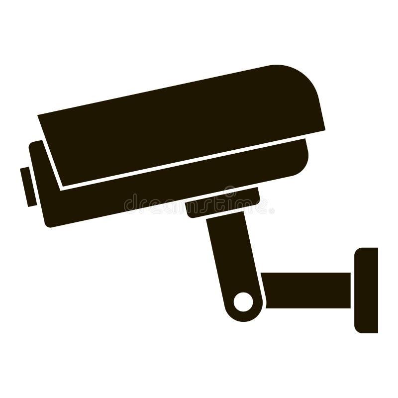 Εικονίδιο κάμερων ασφαλείας, απλό ύφος διανυσματική απεικόνιση