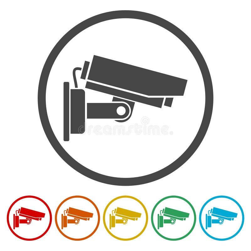 Εικονίδιο κάμερων ασφαλείας διανυσματική απεικόνιση