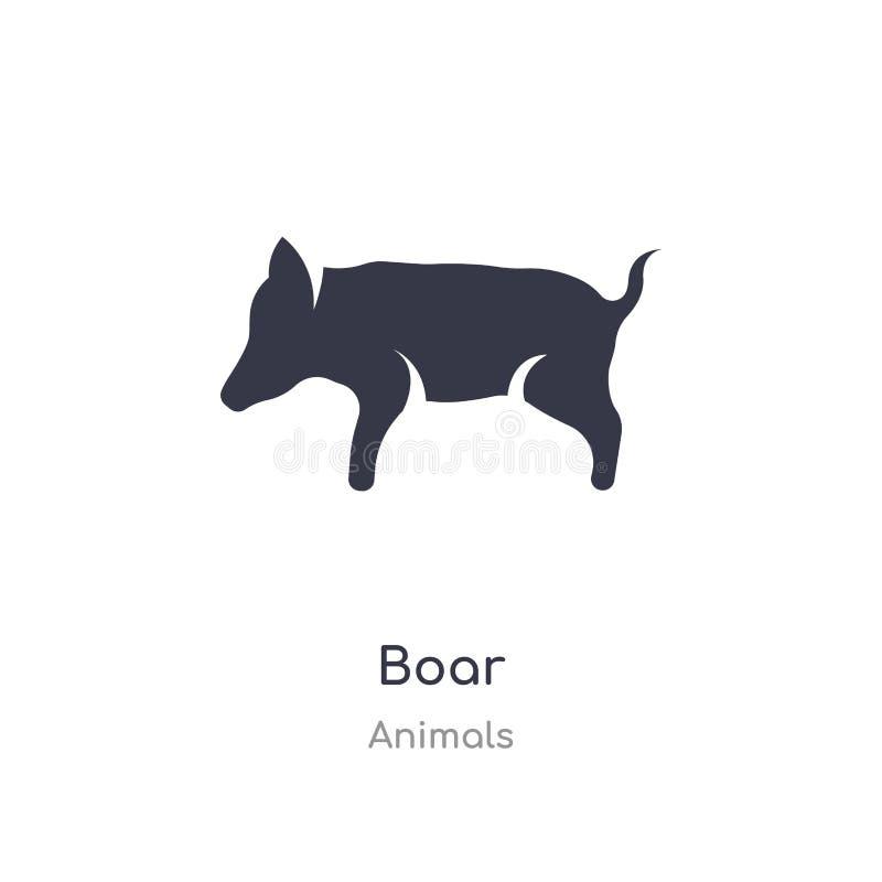 εικονίδιο κάπρων απομονωμένη διανυσματική απεικόνιση εικονιδίων κάπρων από τη συλλογή ζώων editable τραγουδήστε το σύμβολο μπορεί διανυσματική απεικόνιση