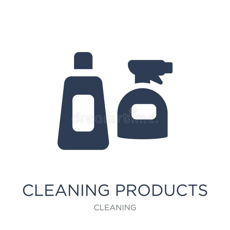 Εικονίδιο καθαρίζοντας προϊόντων Καθιερώνον τη μόδα επίπεδο διανυσματικό ico προϊόντων καθαρισμού διανυσματική απεικόνιση