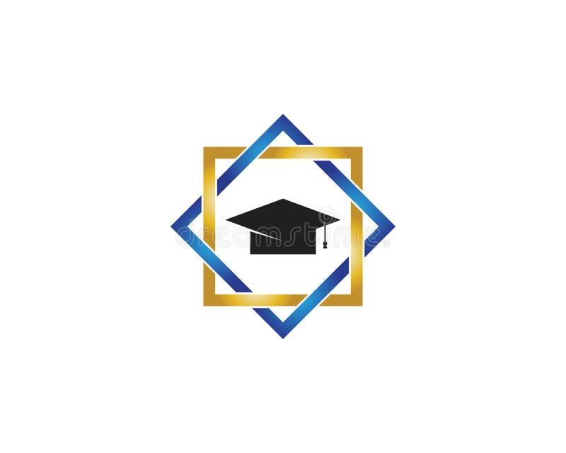 Εικονίδιο και σύμβολο εκπαίδευσης διανυσματική απεικόνιση