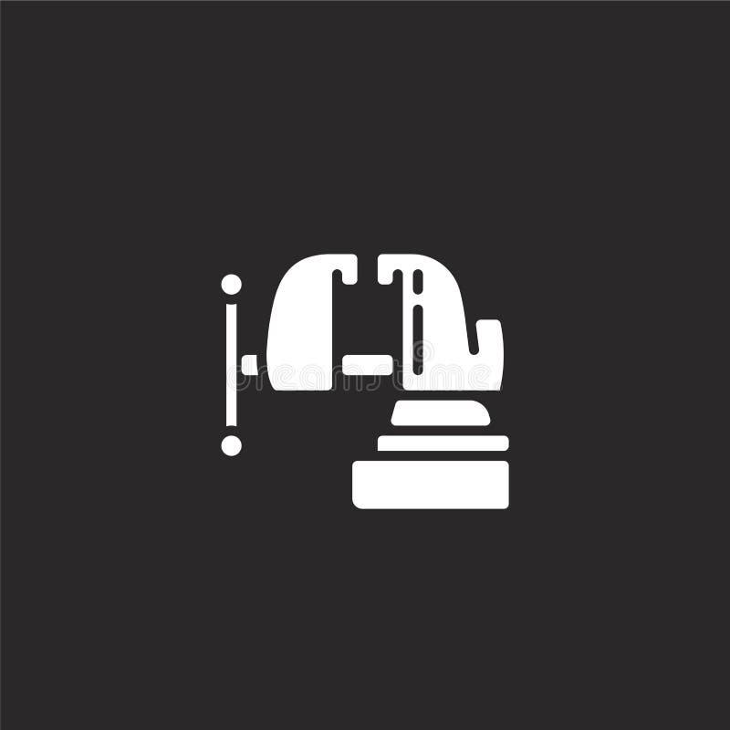 εικονίδιο κακίας Γεμισμένο εικονίδιο κακίας για το σχέδιο ιστοχώρου και κινητός, app ανάπτυξη εικονίδιο κακίας από τη γεμισμένη σ διανυσματική απεικόνιση