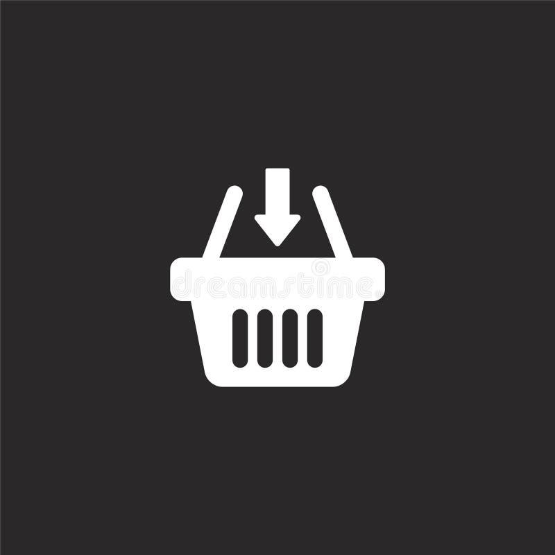 εικονίδιο καλαθιών αγορών Γεμισμένο εικονίδιο καλαθιών αγορών για το σχέδιο ιστοχώρου και κινητός, app ανάπτυξη εικονίδιο καλαθιώ διανυσματική απεικόνιση