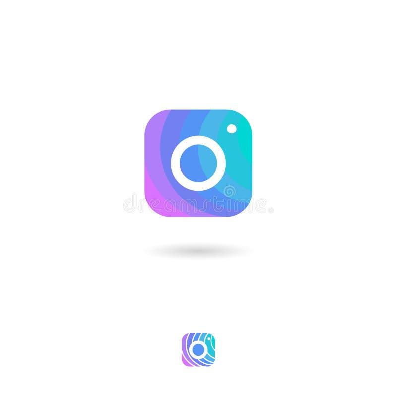 Εικονίδιο καμερών, UI Κουμπί Ιστού Αποθήκευση φωτογραφιών ή έμβλημα βιβλιοθηκών φωτογραφιών Εικονίδια εκθέσεων φωτογραφίας ελεύθερη απεικόνιση δικαιώματος