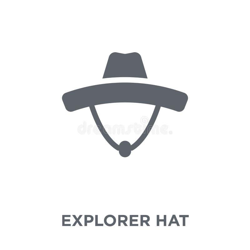 Εικονίδιο καπέλων εξερευνητών από τη συλλογή στρατοπέδευσης ελεύθερη απεικόνιση δικαιώματος