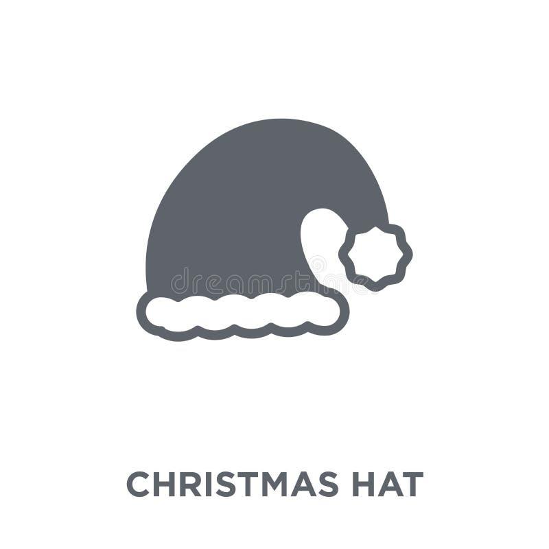 Εικονίδιο καπέλων Χριστουγέννων από τη συλλογή Χριστουγέννων ελεύθερη απεικόνιση δικαιώματος